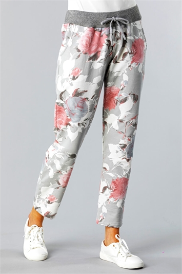 Floral Print Lounge Joggers