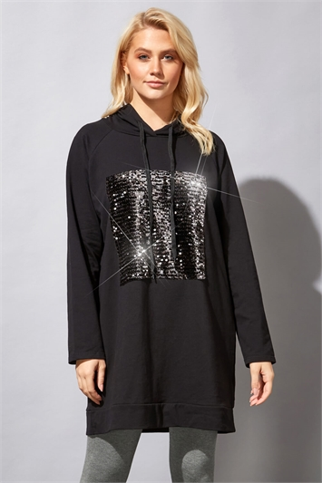 Sequin Embellished Lounge Hoodie