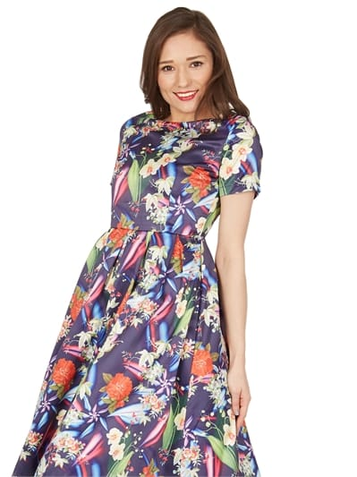 Elodie Floral Swing Dress