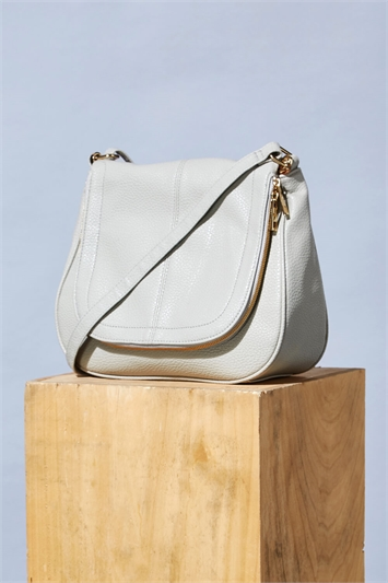 Textured Cross Body Handbag