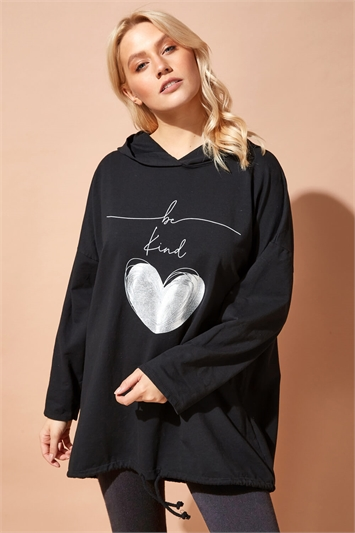 Be Kind Hooded Longline Sweater