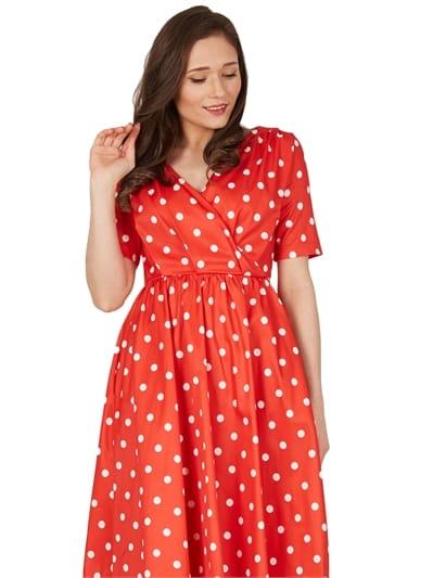 Dahlia Polka Swing Dress