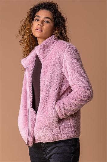 Pink Soft Sherpa Fleece Jacket