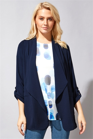Tab Sleeve Waterfall Jacket