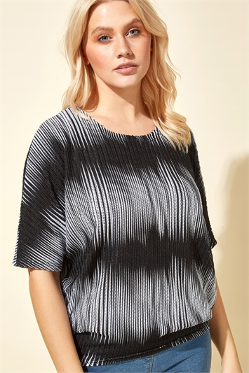 Oversized Ombre Print Top