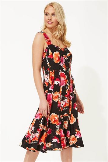 Floral Print Panel Dress