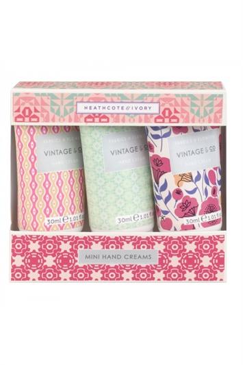 Heathcote & Ivory - Vintage & Co Fabrics & Flowers Mini Hand Creams 3 x 30ml