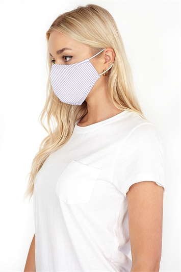 Stripe Print Fast Drying Fashion Face Mask