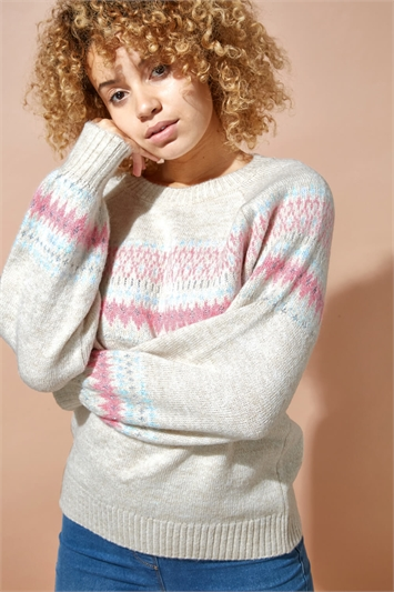 Fairisle Shimmer Detail Jumper
