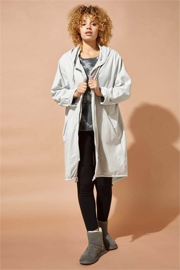 Zip Through Hooded Lounge Jacket