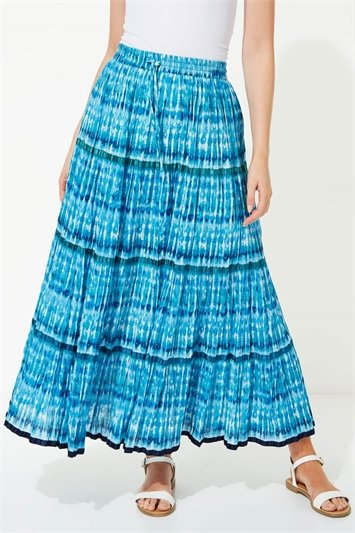 Tie Dye Tiered Maxi
