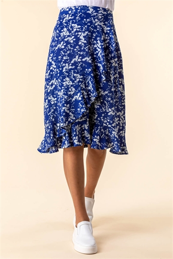 Ditsy Floral Ruffle Detail Skirt