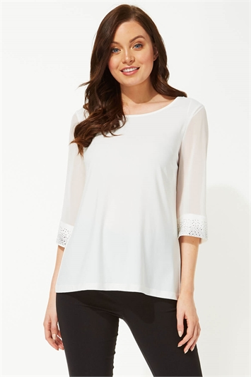 Embellished Cuff Top