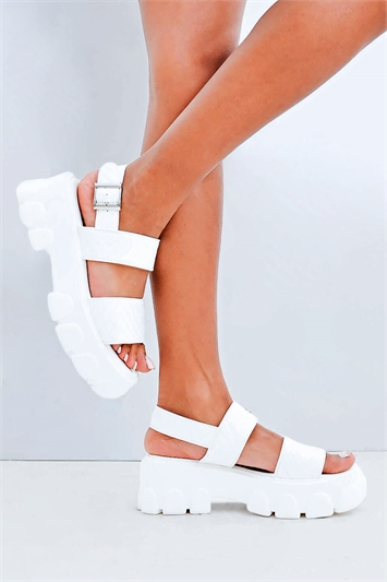 Quilted Chunky Rigid Sandals