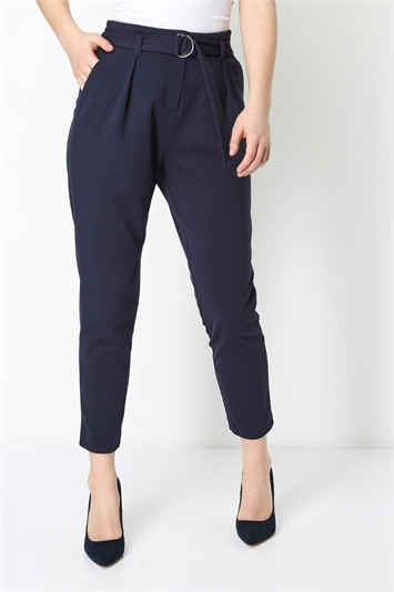 Ring Detail Tailored Trousers