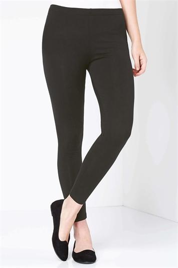 Grey Stretch Plain Leggings, Image 1 of 4