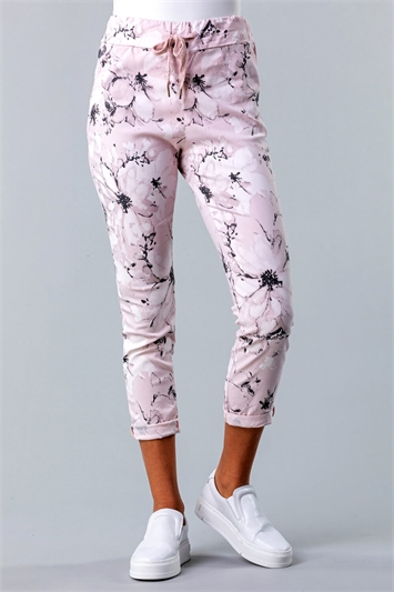Floral Print Crinkle Lounge Pant