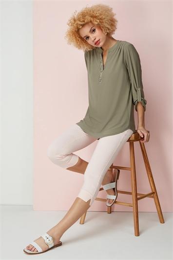 3/4 Sleeve Embellished Top