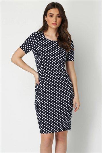 Polka Dot Short Sleeve Dress
