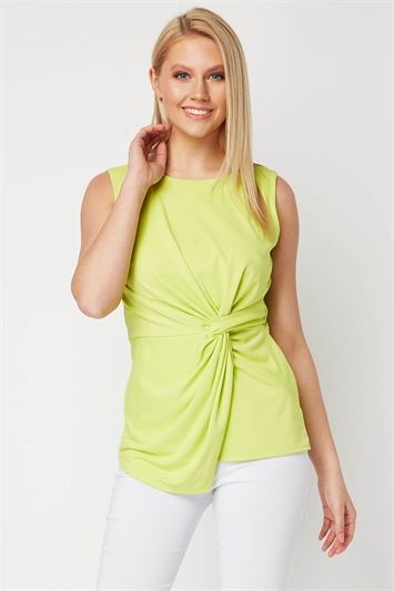 Sleeveless Knot Front Top