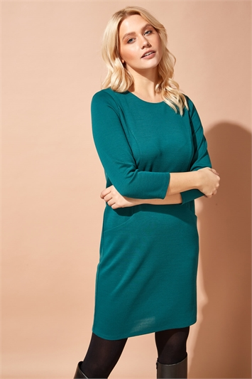 Relaxed Sleeve Pocket Dress