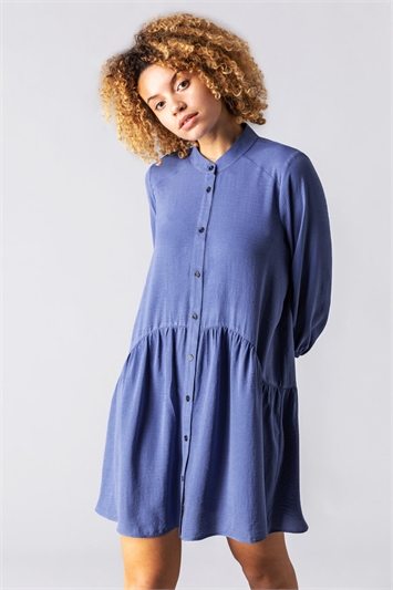 Dropped Waist Shirt Dress