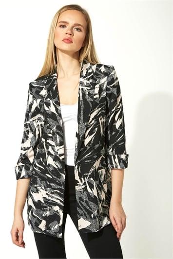Abstract Printed Woven Jacket