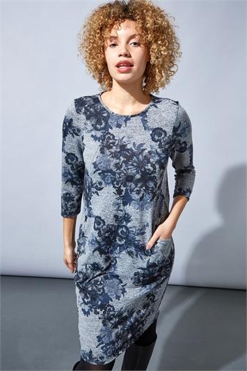 Floral Print Cocoon Dress