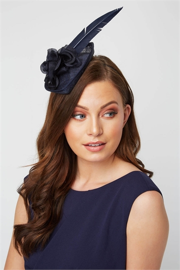 Pan Rose & Feather Fascinator