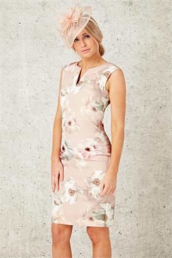 Floral All Over Print Scuba Dress