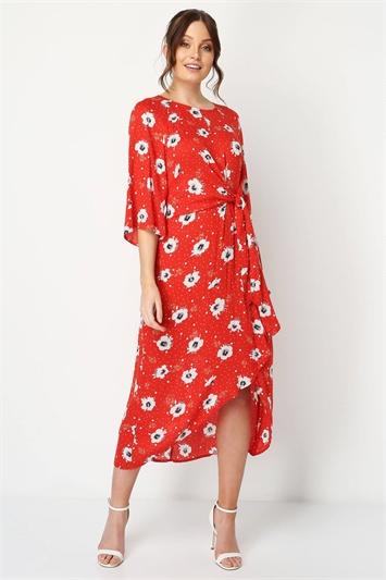 Floral Knot Waist Maxi Dress