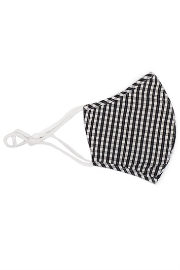 Gingham Check Fast Drying Fashion Face Mask