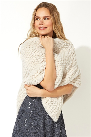 One Size Faux Fur Cosy Poncho