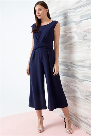 Twist Front Culotte Jumpsuit