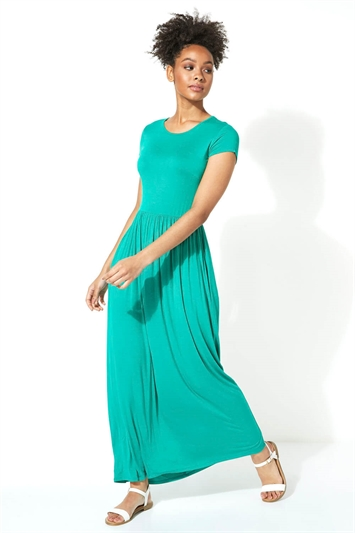 Gathered Skirt Maxi Dress