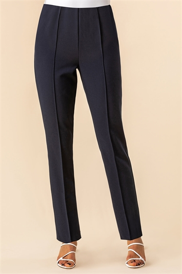 Navy Soft Jersey Tapered Trouser , Image 1 of 4