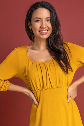 Amber Gathered Front Detail Top