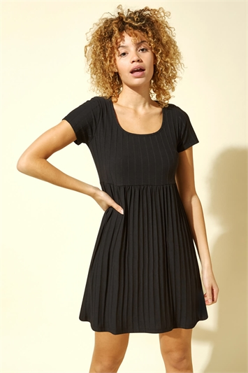 Ribbed Jersey Skater Dress
