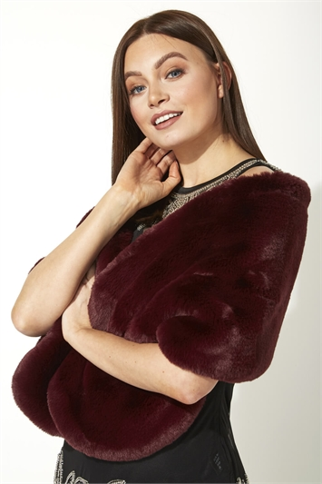 Luxury Faux Fur Shawl