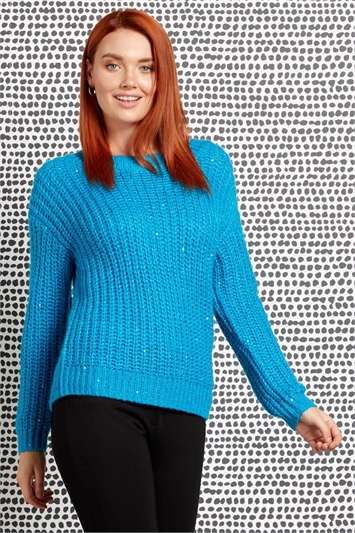 Chunky Knit Sequin Jumper