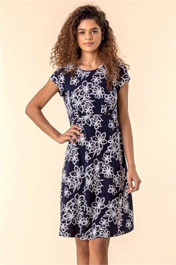 Floral Print Tea Dress