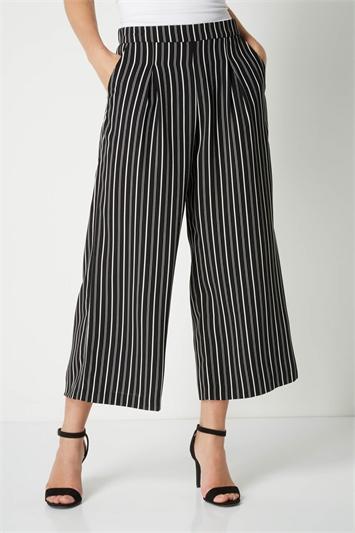 Monochrome Stripe Culottes