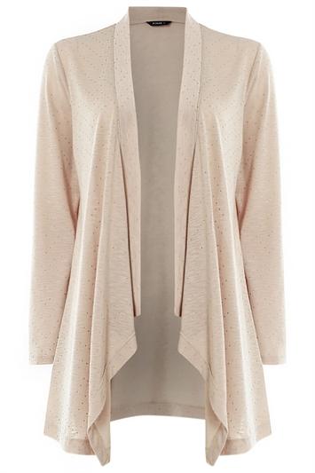 Stud Embellished Long Sleeve Cardigan