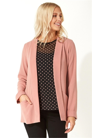 Long Sleeve Crepe Jacket