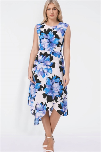 Floral Fit and Flare Wrap Dress