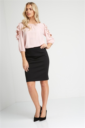 Short Textured Skirt