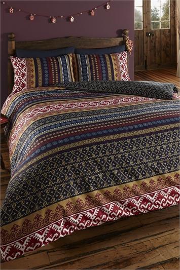 Multi Double Orkney Duvet Cover Set