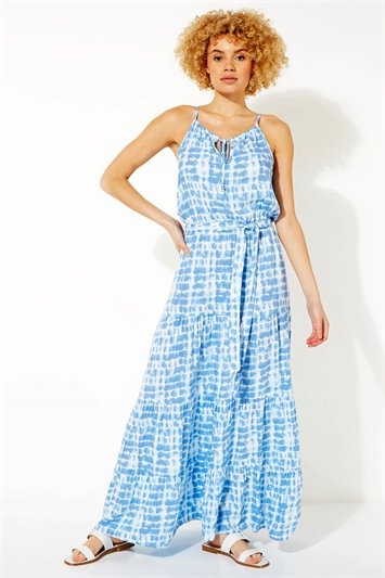 Tie Dye Tiered Maxi Dress
