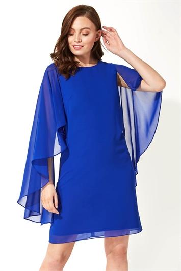 Chiffon Cape Sleeve Dress