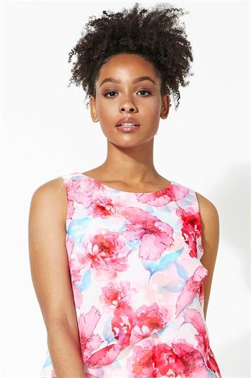 Sparkle Detail Floral Print Top